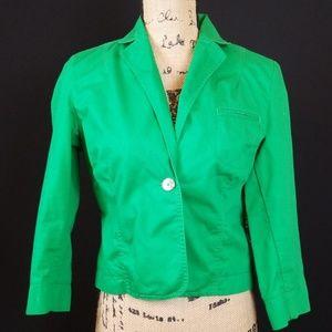 Tommy Hilfiger green crop blazer jacket Rk:7:719
